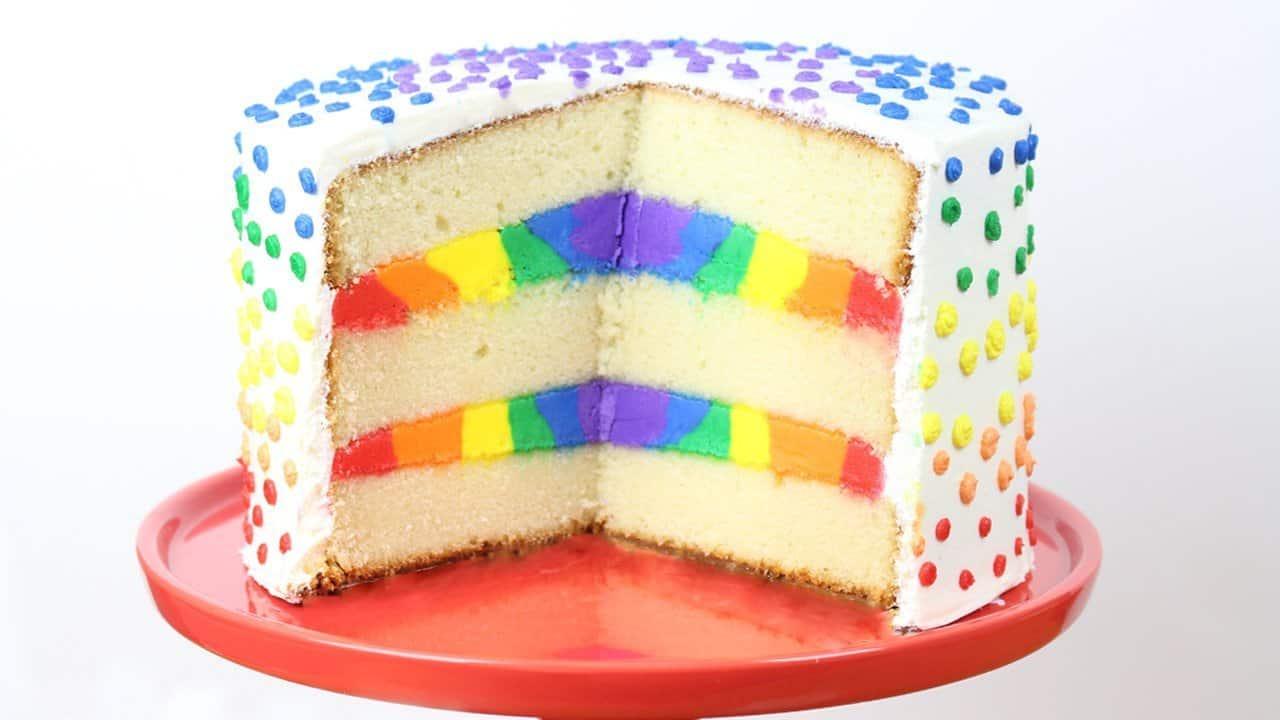Rainbow Cake Recipe Italian: It's Raining Flour