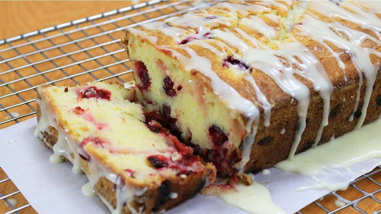 Cranberry Sour Cream Pound Cake