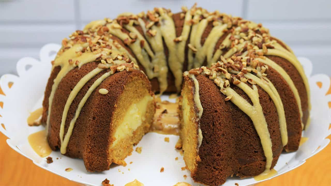 Sweet Potato Cream Cheese Bundt Cake