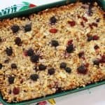 oatmeal berry bake, baked oatmeal, oats recipes, healthy baked oatmeal, breakfast meal prep, meal prep