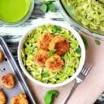 Pesto Pasta with Chickpea Patties, pesto pasta, pesto pasta salad, pesto, basil recipes, pesto recipes, pesto recipe, vegan pesto recipe, gluten free pesto recipe, gluten free pasta, gluten free pasta recipes, chickpeas, chickpea burgers, chickpea bites, pesto and chickpeas, hummus, healthy cooking, healthy recipes, gluten free recipes, easy recipes, easy and healthy cooking