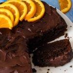 Dark Chocolate Orange Cake sliced