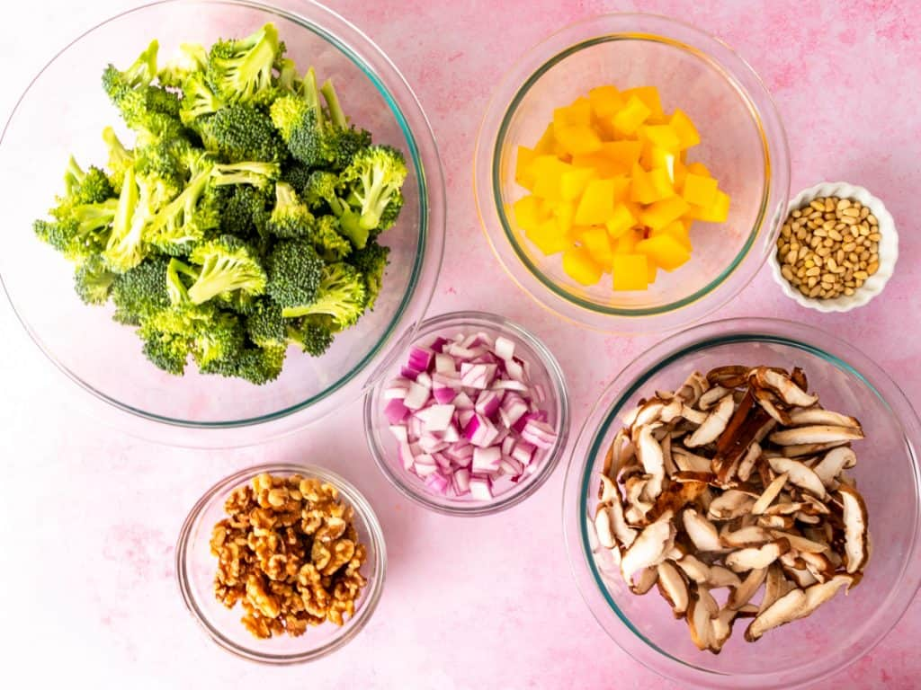 Broccoli Crunch Salad ingredients