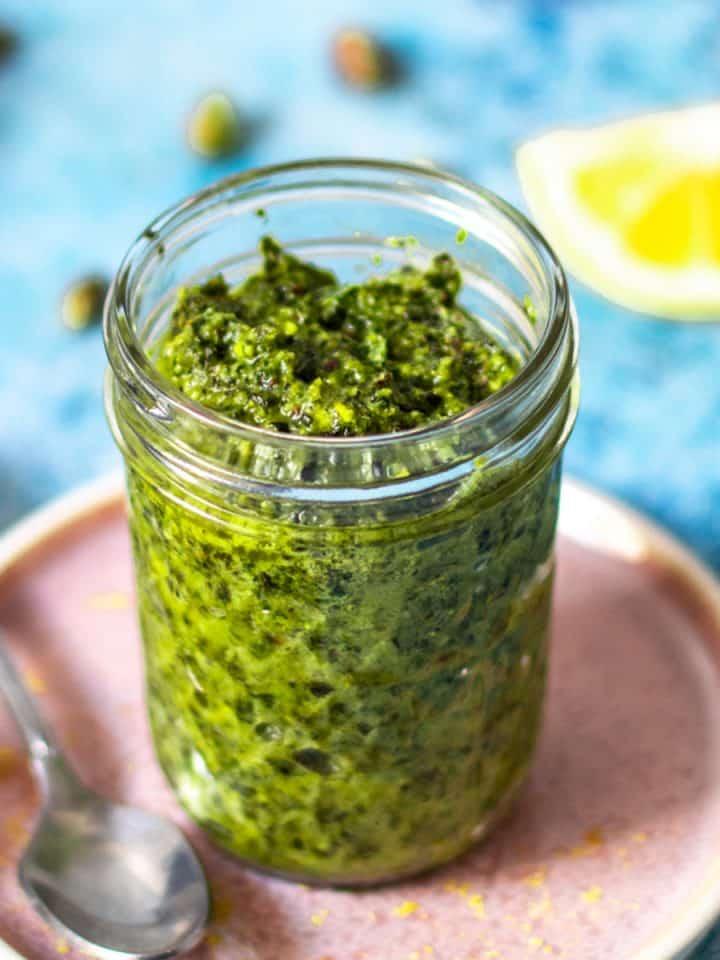Pistachio Pesto (gluten free & dairy free)