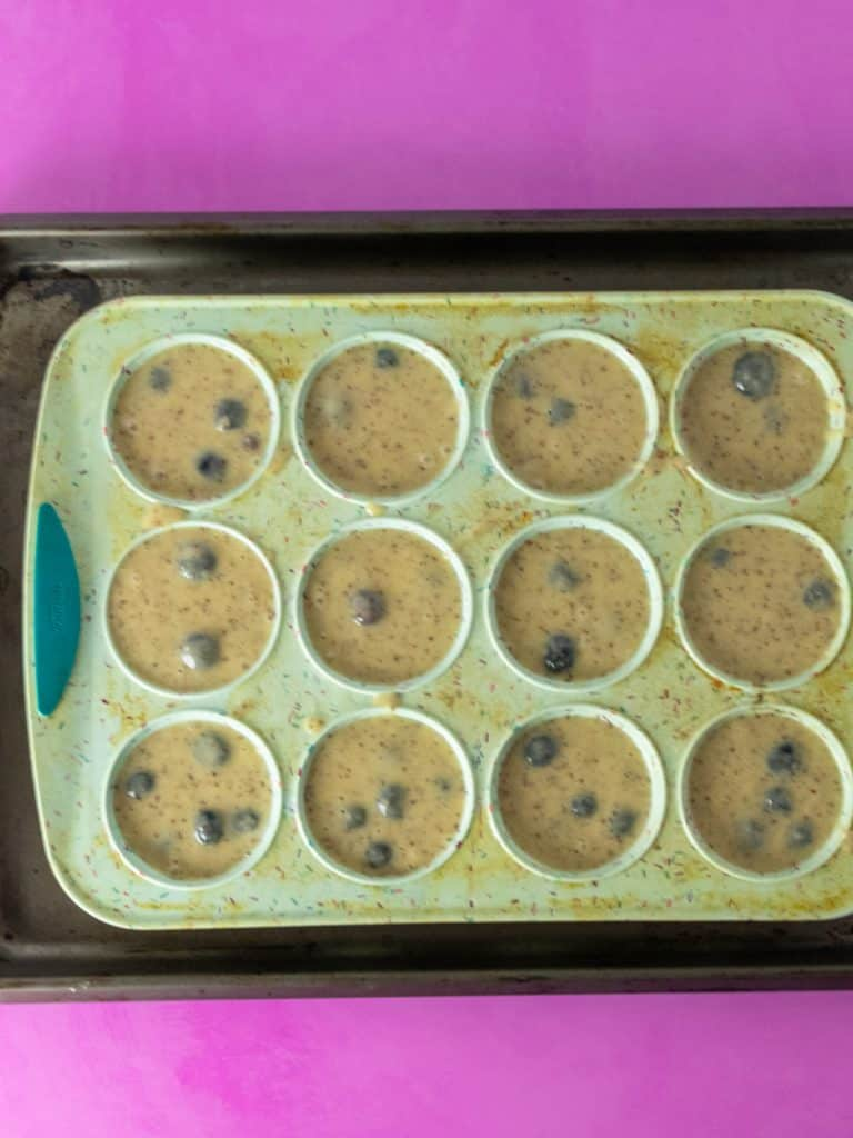 To Die For Blueberry Muffins in pan