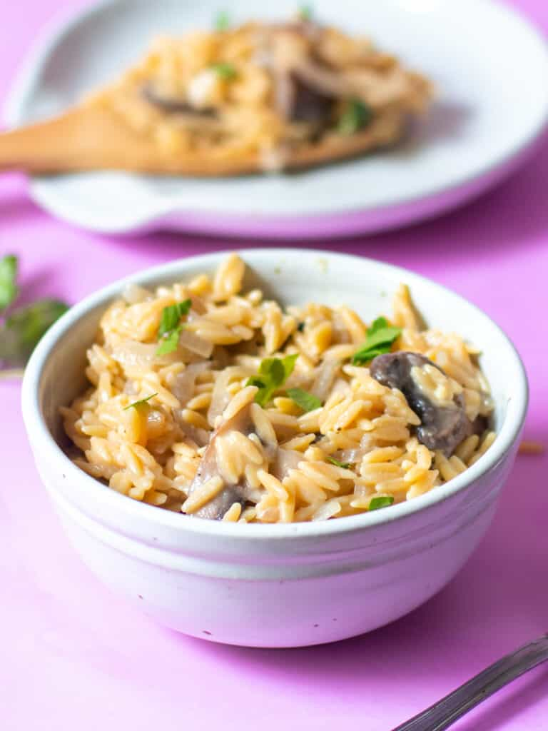 orzo in a bowl