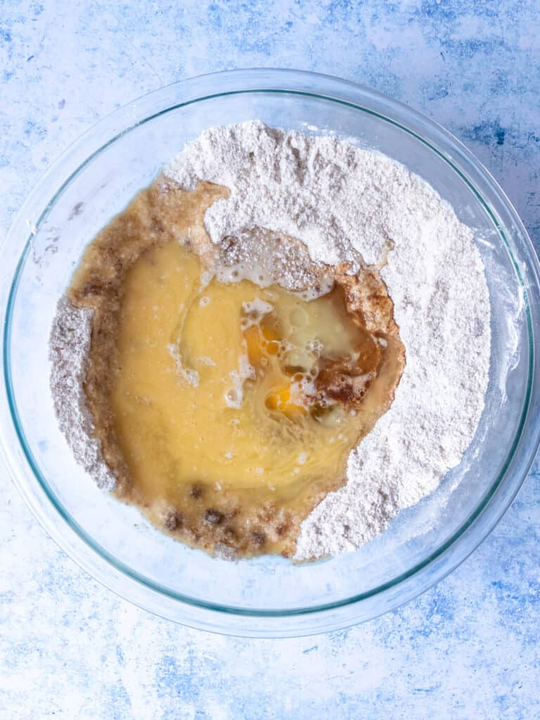 gluten free apple muffin ingredients in bowl