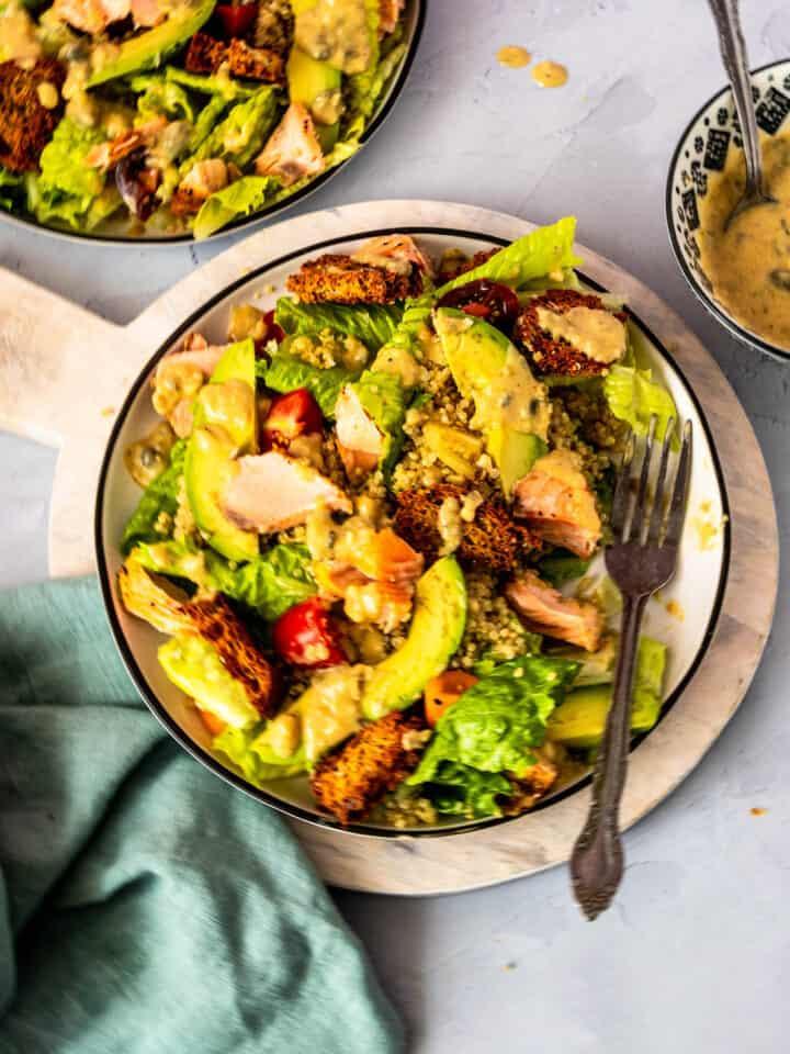 Salmon Quinoa Caesar Salad