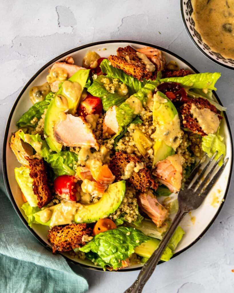 Salmon Quinoa Caesar Salad unclose
