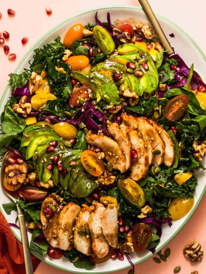 Winter Kale Salad with Grilled Chicken